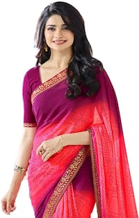 women's red and brown sari dress New Delhi, 110019