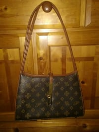 Monogrammed brown leather tote bag Temple Terrace, 33617