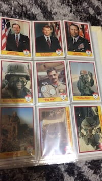Desert Shield cards eight pages of them make me an offer want them gone