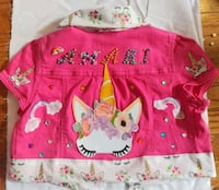 Crop top jean jacket for a size 8 youth Baltimore, 21217