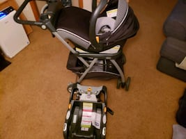 Chicco carseat, base & stroller set