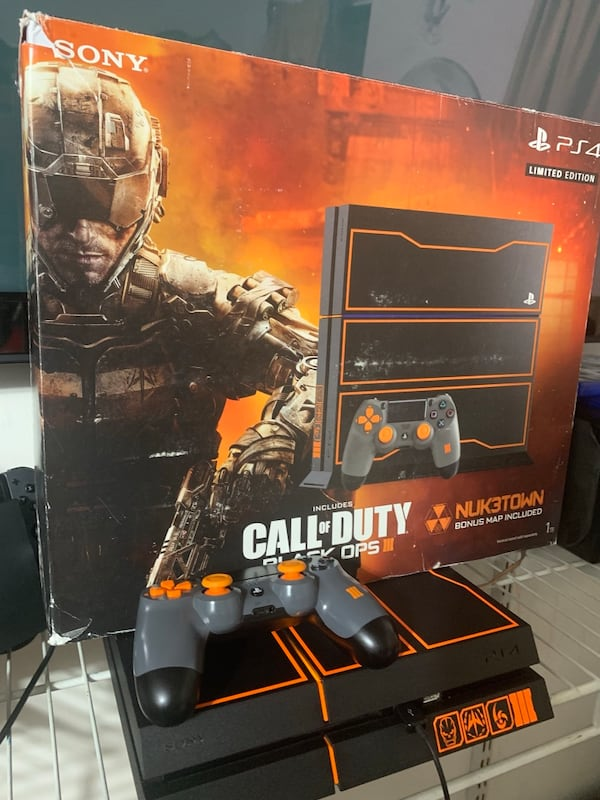 Used Sony Playstation 4 Ps4 1tb Call Of Duty Black Ops 3 Iii