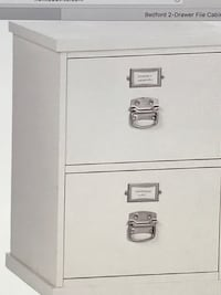 2 antique white Pottery Barn file cabinets and middle piece to make a corner desk Walpole, 02032