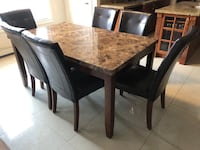 Table set with chairs