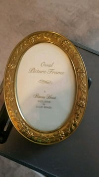 2- Princess House Collectable Oval Brass Frame Hesperia