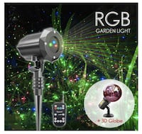 BRAND NEW SEAL IN BOX SUPER BRIGHTMulticolor Laser Lights Projector with 3D Glass Globe for Christmas and Holiday