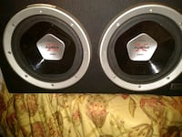 black and gray subwoofer speaker 467 mi
