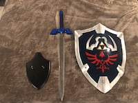 Zelda Master Sword and Hyrule Shield