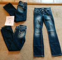 4 pairs of YMI Jeans size 7 Gray, 31032