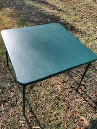 Folding card table, padded