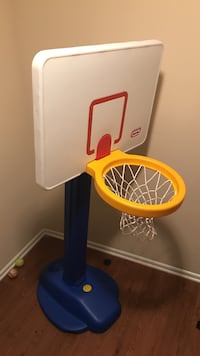 white-and-blue Little-Tikes basketball hoops 56 km