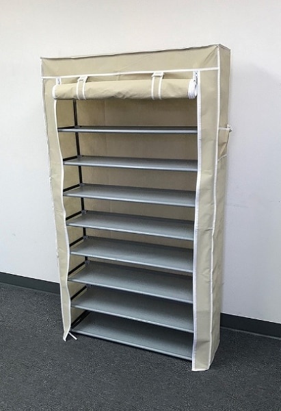 used new 25 each 10 tiers 45 shoe rack closet with fabric cover rh us letgo com