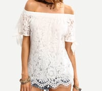 women's white floral off-shoulder shirt Toronto, M6C 1V6