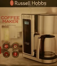 BRAND NEW IN BOX- RUSSELL HOBBS GLASS SERIES 8-CUP COFFEEMAKER (RETAILS $129.99) LAVERGNE