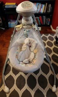 baby's white and gray cradle and swing San Antonio, 78250