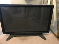 black Panasonic flat screen TV