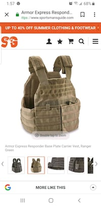 Armor Express responder base plate carrier vest