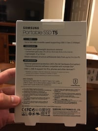 Samsung T5 500 gb external SSD Knoxville, 37922