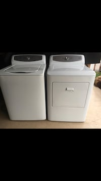 Haier/ GE washer and dryer set. White, 5 yrs Pickering, L1V 5A3