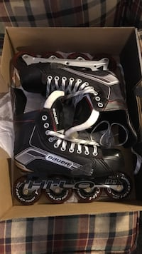 Black-and-gray Bauer in-line skates - barely used