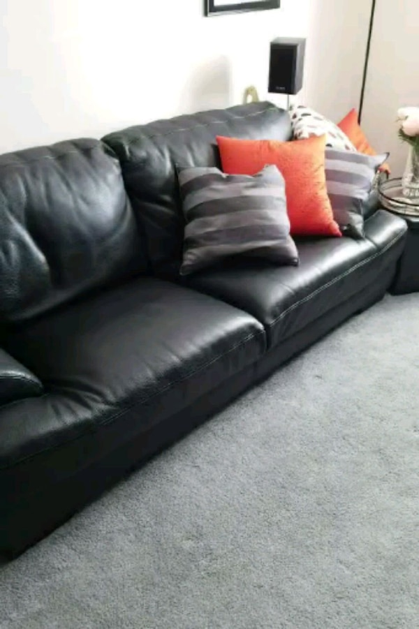Sold Decoro Black Leather Couches In