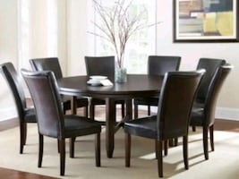 """Large 72"""" Round Dining Table - new"""