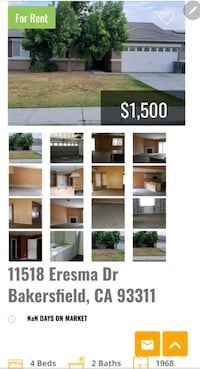 HOUSE For Rent 4bedrooms. 2Bath + office Bakersfield