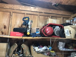 Mitre saw and air compressor combo