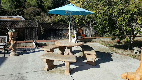 Astounding Patio Cement Table And Chairs Uwap Interior Chair Design Uwaporg
