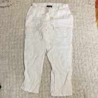 New white cotton pants size med