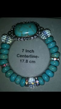 green and blue beaded necklace Chino, 91710