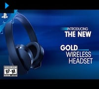 PS Gold Wireless Stereo Headset - Gold Wireless headset Windsor, N9A 0B6