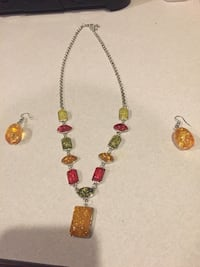 Necklace and earrings matching set Bristow, 20136