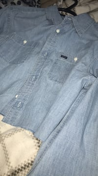blue denim button-up jacket Edmonton, T6J 6X3
