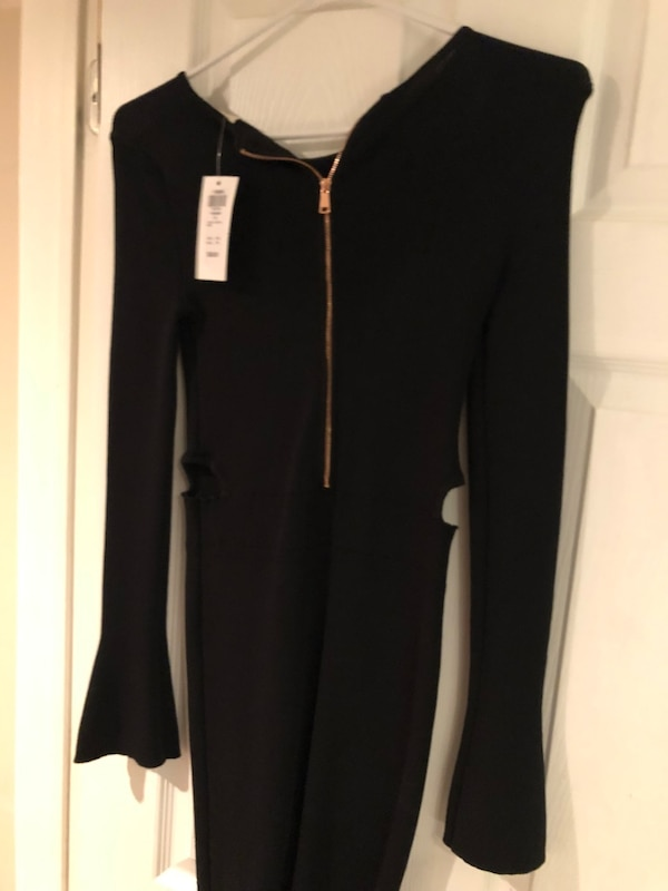 NEW Black Long Sleeved Dress with side cut outs  02b96a04-eea4-4234-a78c-0e87d868a461