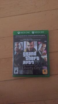 Grand theft auto iv xbox 360 game case Barrie, L4N 7H9