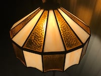 Vintage Stained Glass Hanging Lamp Denton, 76201