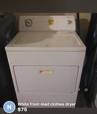 white front-load clothes dryer screenshot Memphis, 38016