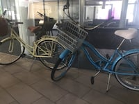 two blue and yellow step-through frame bicycles Los Angeles, 90292