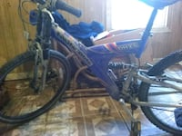 Mongoose dh2.5 blue and white full-suspension bike