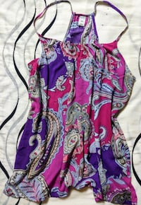 SUMMER BLOUSE WITH SPAGETTI STRAPS, BOHEMIAN FLOWY  PAISLEY