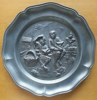 Pewter Wall Mounted Plate