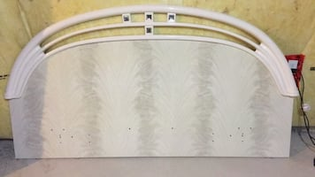 Headboard and dresser mirror. Made in Italy