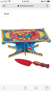 Ultimate Spider-Man Cake Stand Kit with Plastic Cake Server NEW