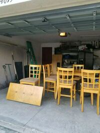Kitchen dinette with six chairs and leaf  Tampa, 33602