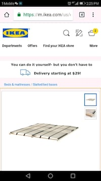 IKEA slatted bed base Queen Alexandria, 22314