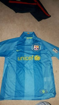 blue and yellow Nike soccer jersey Edmonton, T6S 1B1