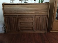 Solid wood Roll top hutch/cabinet
