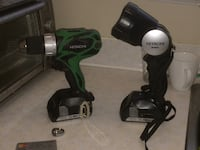 Hitachi still with battery and flashlight with battery almost new Langley, V3A 3W1
