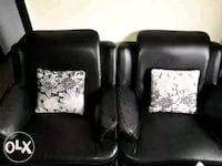 two black leather sofa chairs Mira Bhayandar, 401107